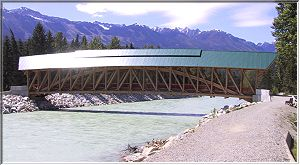 The Timberframe Covered Bridge in Golden
