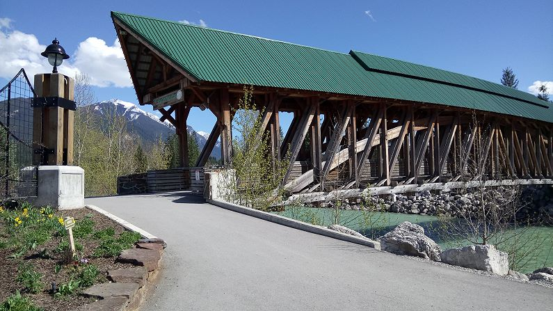 Covered bridge Golden BC