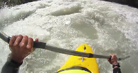 kayak on the kicking horse river